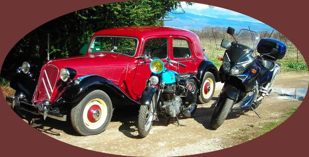 Rallye Touristique 2018 : motos de tout age  et autos anciennes