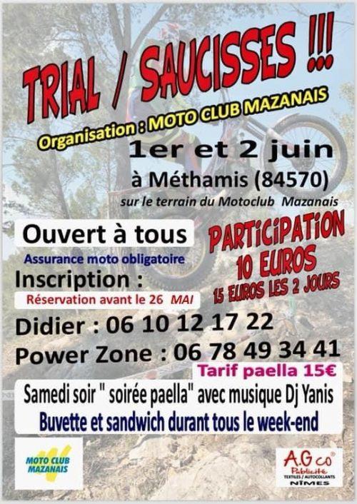 Trial saucisses 01- 02 juin